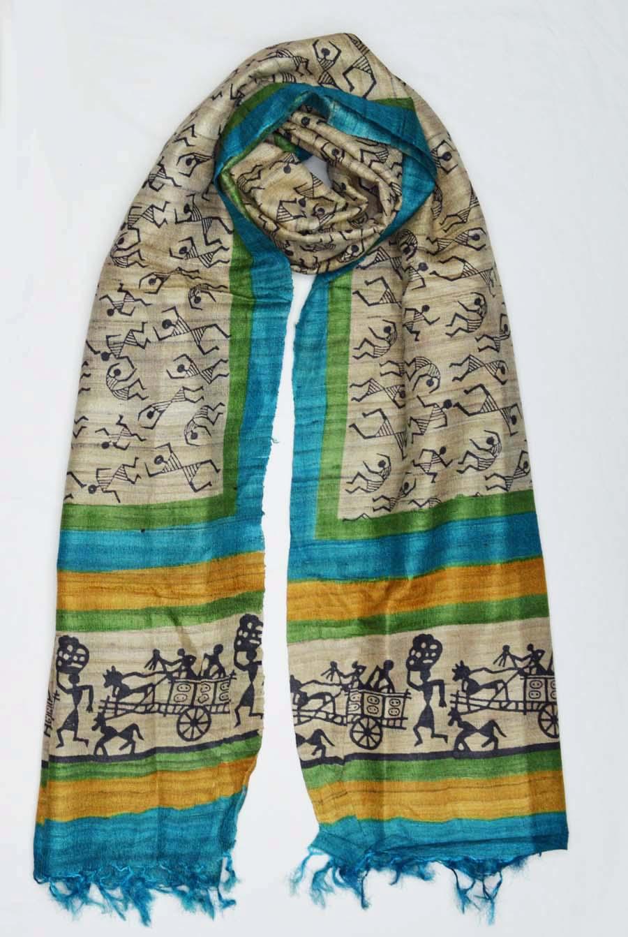 Tussar Silk  3858
