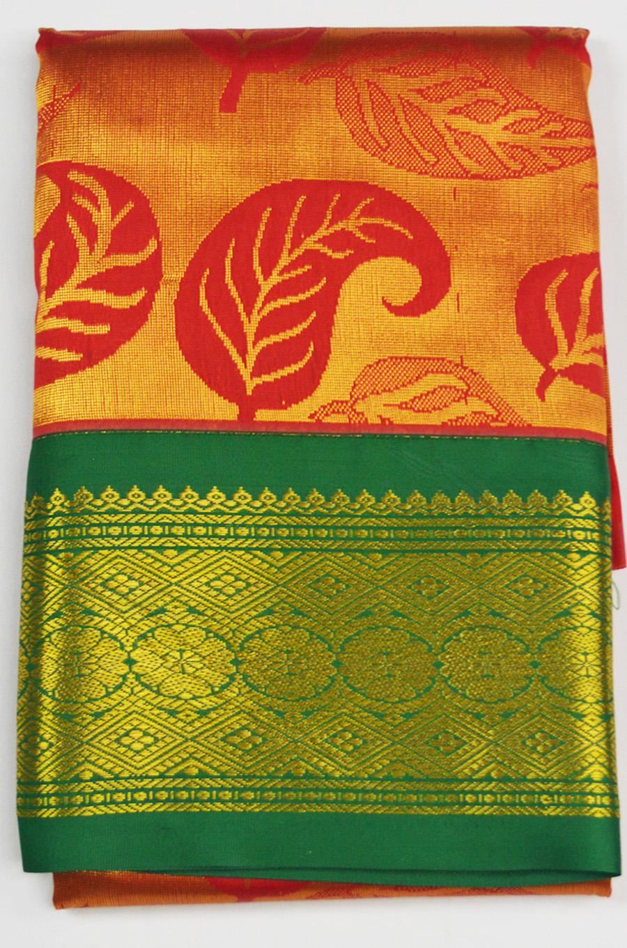Temple Art Silk  Saree 6072
