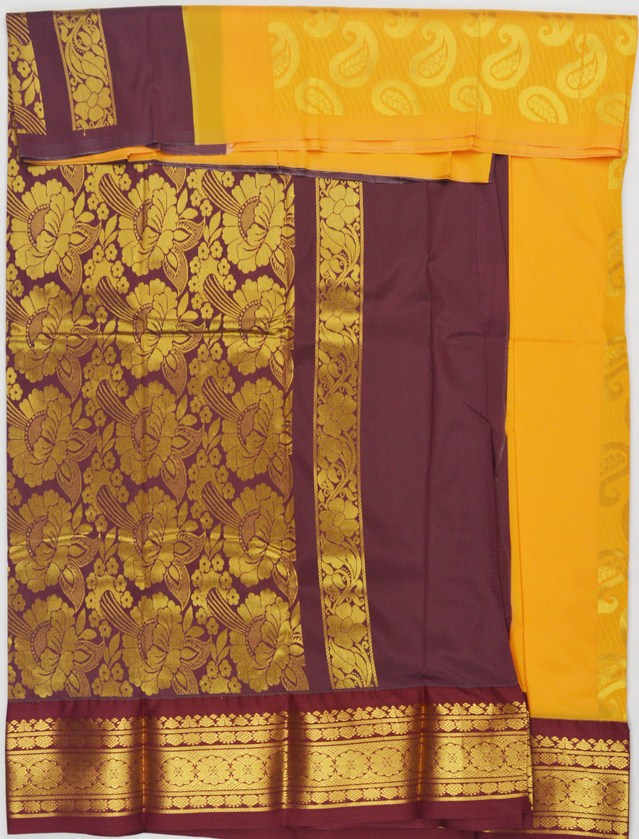 Temple Art Silk  Saree 6073